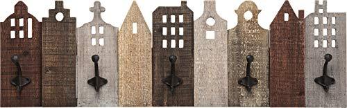 Kare Design Garderobe Terrace, Garderobenleiste mit Garderobenhaken aus Stahl
