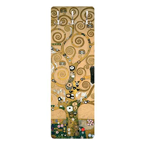 Bilderwelten Garderobe Garderoben-Paneele Landhaus – Gustav Klimt – Der Lebensbaum