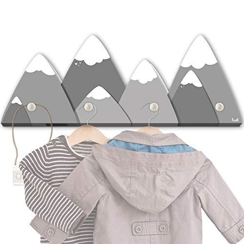 blaue Berge G4 Kindergarderobe mit 4 Haken