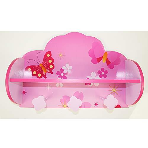 Kindergarderobe von Homestyle4u mit Schmetterling und Blumen Dekor
