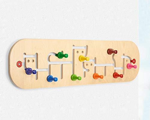 Holzgardrobe Kinder, 74 x 20,5 cm, tolles und flexibles Design