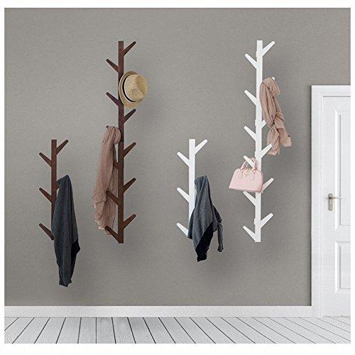 WEII Kleiderständer aus Massivholz zum Aufhängen an der Wand für Wohnzimmer, Schlafzimmer